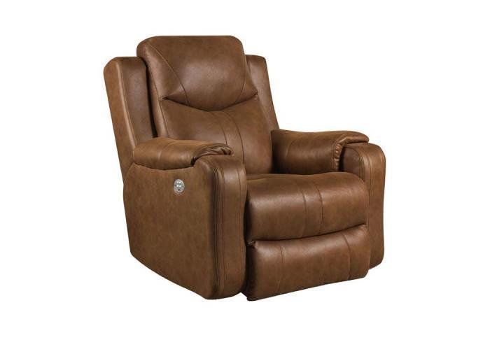5188MP Marvel Rocker Recliner w/Power Headrest by Southern Motion,Old Brick