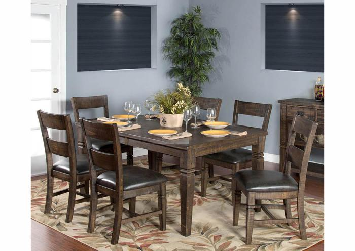 Homestead 7-Piece Extension Dining Set,Old Brick
