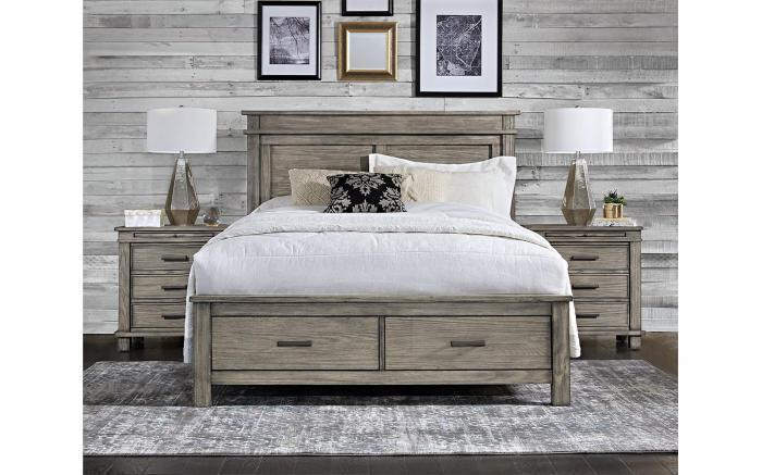 Glacier Point Queen Storage Bed by A.America ,Old Brick