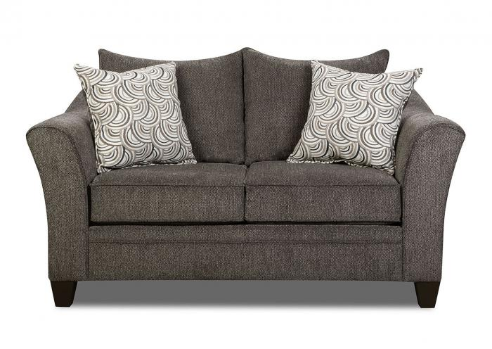 6485 Loveseat by Lane,Old Brick
