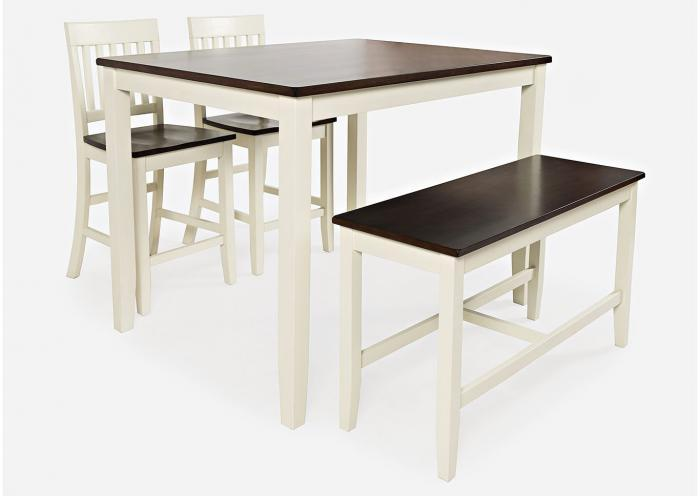 The Old Brick Furniture Company Decatur White 4 Pack Pub Table Set
