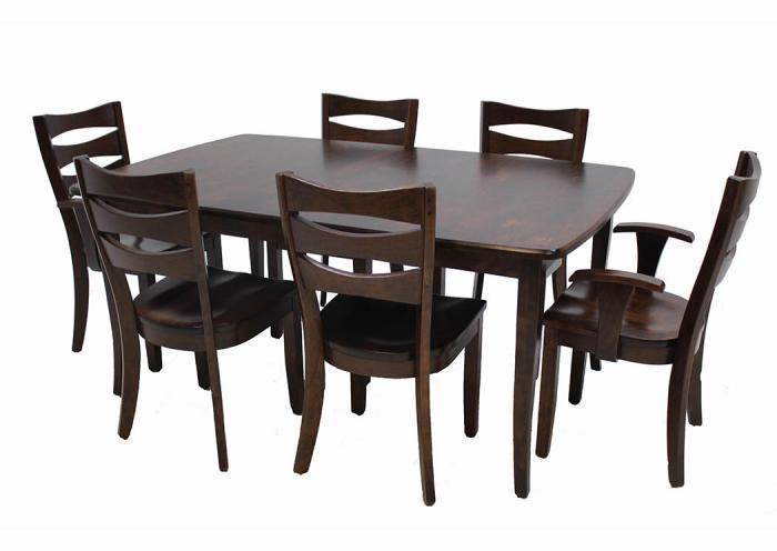 Trailway Wood Alt3648 7-Piece Dining Set,Old Brick