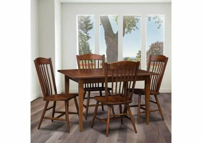 Trailway Wood Freeport 5-Piece Dining Set,Old Brick
