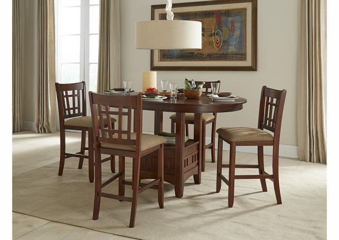 Mission Casuals 5-Piece Gathering Set,Old Brick