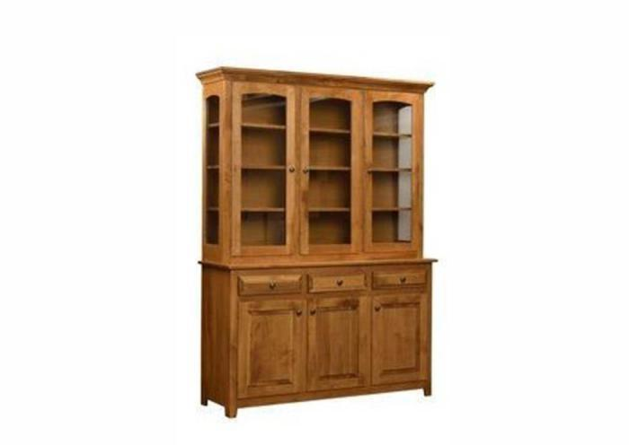 Trailway Wood Trailway Server Solid Wood China Cabinet,Old Brick