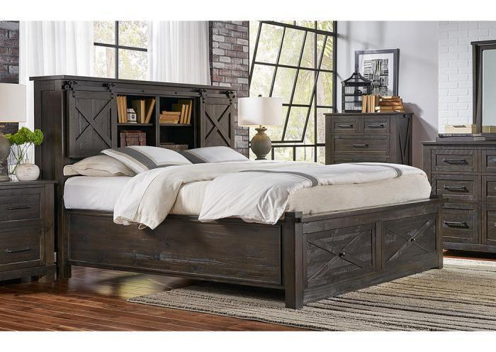 Sun Valley Queen Storage Bed by AAmerica,Old Brick