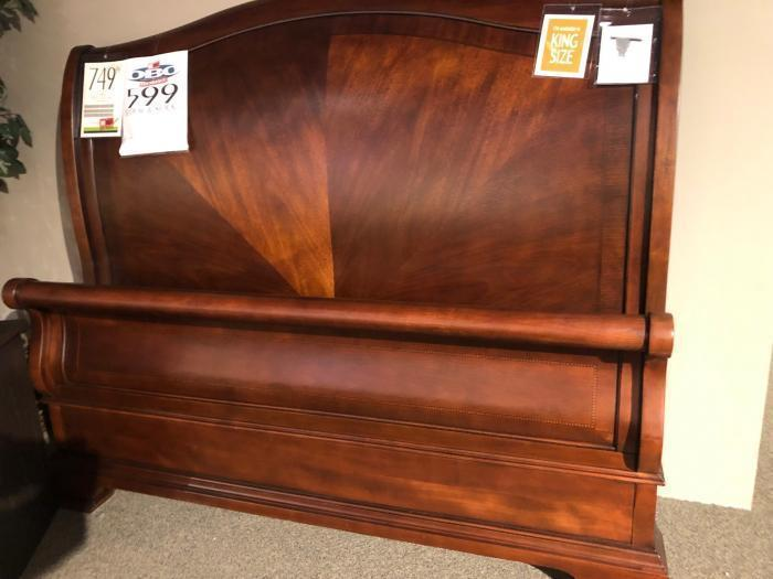 CLEARANCE-Queen sleigh bed by Legacy Classics,OBO