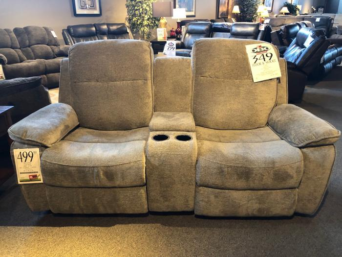 CLEARANCE- Klaussner Reclining Console Loveseat,OBO