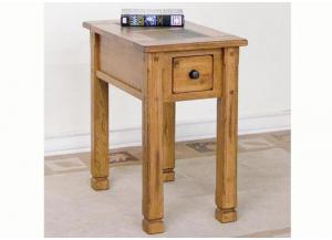 Sedona Chair Side Table w/Slate