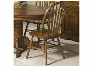 Classic Oak Plain Arrow Back Dining Side Chair