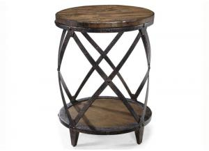 Pinebrook Round Accent End Table
