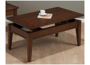 Dunbar Oak Casual Styled Lift Top Cocktail Table w/Oak Veneers