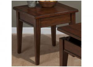 Dunbar Oak Casual Styled End Table w/Oak Veneers