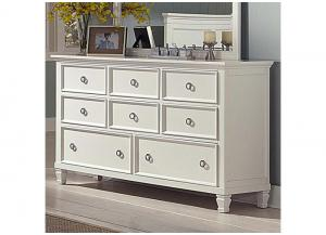 Tamarack White 8 Drawer Dresser by New Classics