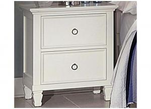 Tamarack White 2 Drawer Nightstand by New Classics