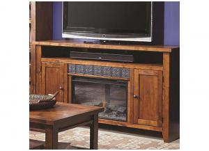 Alder Grove 2 Door Entertainment Console w/Fireplace