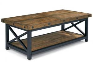 Carpenter Rectangle Cocktail Table w/Exposed Bolt Heads
