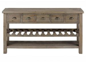 Slater Mill Reclaimed Pine Wine Rack Server by Jofran