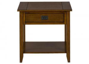 Mission Oak End Table w/1 Drawer and 1 Shelf