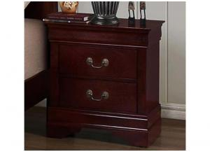Louis Phillipe 2 Drawer Nightstand by Crown Mark