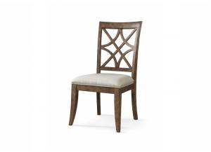 Trisha Yearwood Home Nashville Side Chair w/Lattice Back and Upholstered Seat