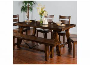 Tuscany Distressed Mahogany Extension Table w/Turnbuckle Accent