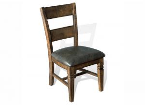Homestead Rustic Pine Ladderback Chair w/Cushion Seat