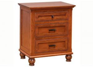 Regal 3-Drawer Nightstand by Daniels Amish