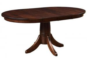 Trailway Wood Miami Oval Dining Table w/Two Leaves