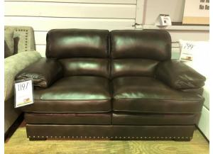 Image for Clearance - All Leather Loveseat by WM Associates