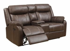 Domino Reclining Console Loveseat by Klaussner