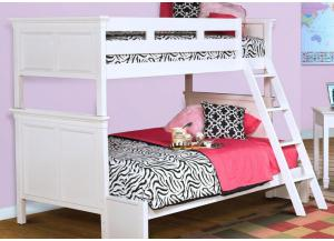 Tamarack White Twin-Over-Full Bunk Bed by New Classics