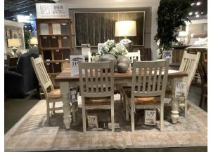 Clearance - Solid Oak Reclaimed Barn Wood Table Set