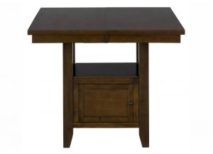 Taylor Brown Cherry Double Header Storage Counter Table w/2 Doors
