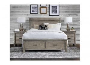 Glacier Point Queen Storage Bed by A.America