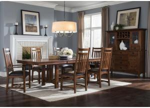 OAK PARK MISSION DINING TABLE by INTERCON, INC.