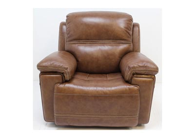 Fenwick Leather Power Glider Recliner by Flexsteel