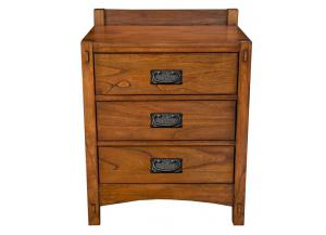 Mission Hill 3 Drawer Nightstand by A.America