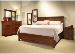 SAN MATEO CHERRY QUEEN PANEL BED by INTERCON, INC.