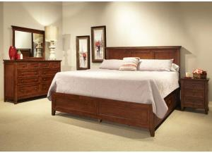SAN MATEO CHERRY KING PANEL BED BY INTERCON