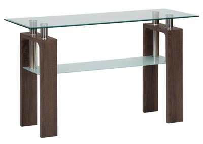 198 Glass Sofa Table by Jofran