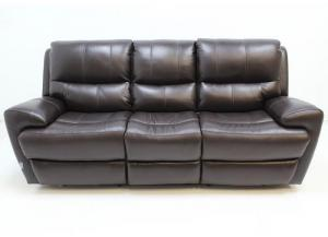 1431 Leather Double Power Reclining Sofa by Futura