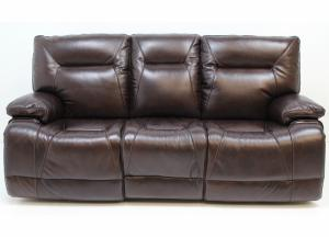 1298 Leather Double Power Reclining Sofa by Futura