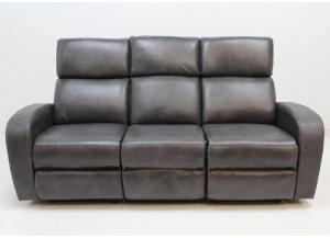 Mercury Leather Double Power Reclining Sofa by Parker Living
