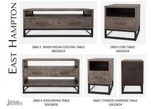 EAST HAMPTON SOFA TABLE BY JOFRAN