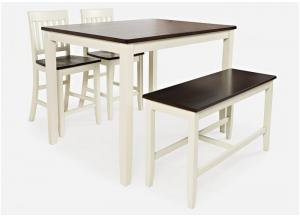 DECATUR WHITE 4 PACK PUB TABLE SET by JOFRAN INC.