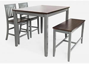 DECATUR DARK 4 PACK PUB TABLE SET by JOFRAN INC.