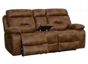 Cano Reclining Loveseat w/Storage & Cupholders