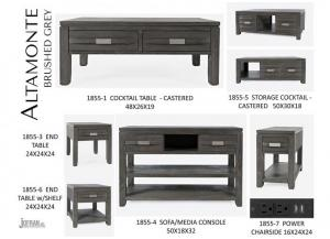 ALTAMONTE GREY SOFA TABLE by JOFRAN INC.