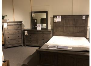 Clearance - Dresser, Mirror, Chest, & Queen Bed by Legacy